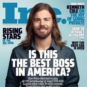 Dan Price en la portada de Inc.com